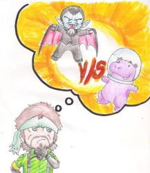 MGS: 3- Dracula vs space hippo by ky-vergil666