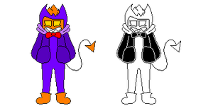 [Any AU Where Fondy is Sans] Fondy - Sprite (UT) by TyluigiDraws100