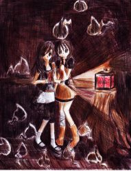 Fatal Frame + Ghosts by kayeah