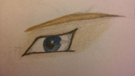 Link's Eye (colored pencil) by FantasyFeathers