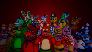 (fnaf sfm) me and some of my friends by sammy2005