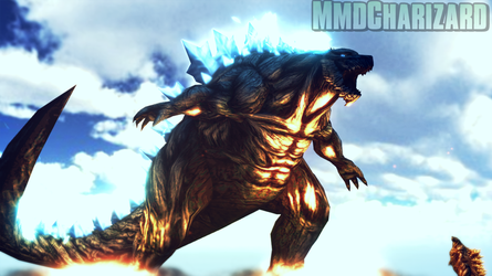 MMD Godzilla - Godzilla Earth and Filius +DL+ by MMDCharizard