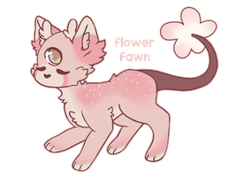 flower fawn by fabledfawn
