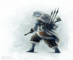 Dragonborn Barbarian by Vagelio