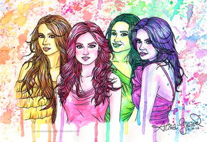 Pretty Little Liars in watercolor by OdieFarber