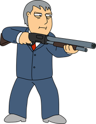 Adam West with his shotgun by Mighty355