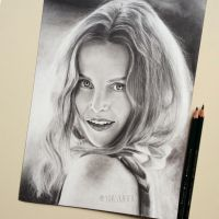 Rebecca Mader    Portrait Drawing by yoaskaxx