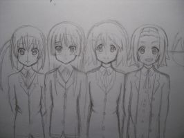 Work in progress K-on members by ClaireySmiley