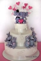 Animal wedding cake by Verusca