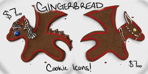 Last Chance Gingerbread Icons! by DragonnessMekolai