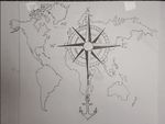 Tattoo design compass by Smokys-art
