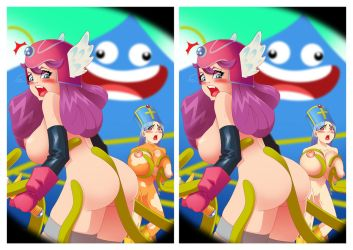 Dragon Quest 3 - Girls x Giga Slime by sexfire
