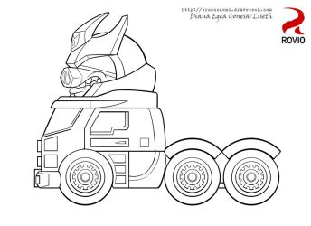 Angry birds transformers Galvatron by Liseth