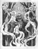 Incantation Preliminary Drawing by wailingwizard
