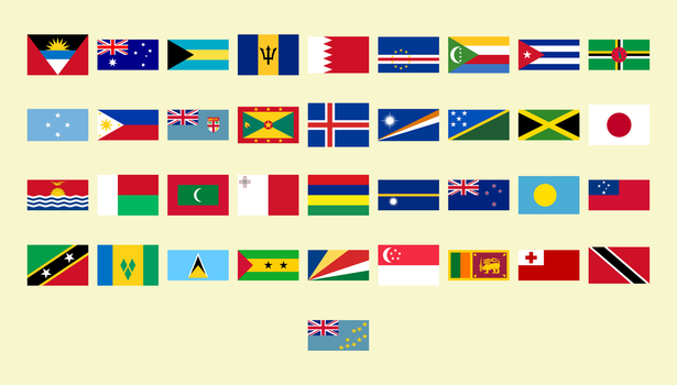Flags of all island countries in the world (37) by matritum