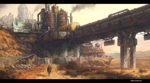 Nomad_Scavenger's refinery by moonworker1