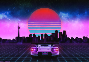 RetroWave Toronto by ImmortalBus