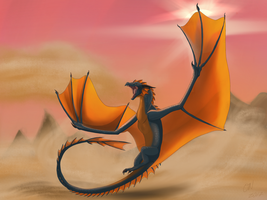The Sun Wyvern by CyrilTheBlueFire-D