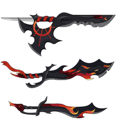 Darkfire Sword Set by JikaruTakhira