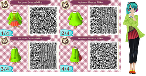 ACNL - Autumn Breeze Miku QR Code by TofaTheDragonRider