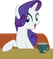 At The Diner With Rarity by TomFraggle