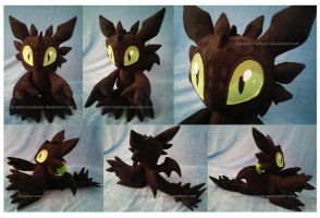 Chao Toothless the Night Fury by FeneksiA