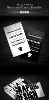 Black and White Business Cards by MosheSeldin