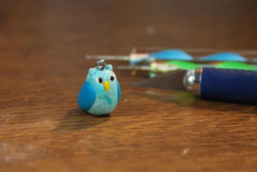 Polymer Clay Owl by MorriganLung