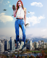 Giantess Bella Thorne Futile Attacks by dochamps
