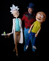 Rick and Morty and Sculptor by DJdrummer
