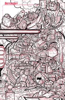 First Strike 04 Variant Cover Art - Lineart by RobDuenas