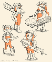 Salmon Run team commission  by Lubrian