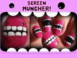 screen muncher nails by Ninails