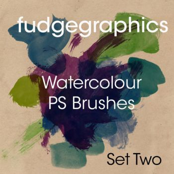 Watercolour Brushes Set 2 by fudgegraphics