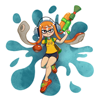 Splatoon Inkling Girl by KeithAErickson