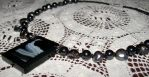 Pearl and Hematite Necklace by armaina