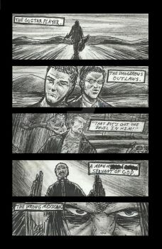 Los Hooligans comic book rough sketch pg1 (of 2) by StevJVaz72