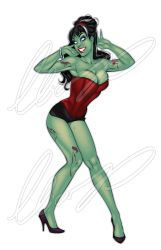 Sexy Zombie Pinup Girl by Elias-Chatzoudis