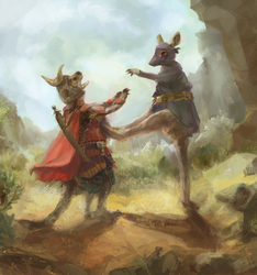 Crouching Kangas by PrimordialSeven