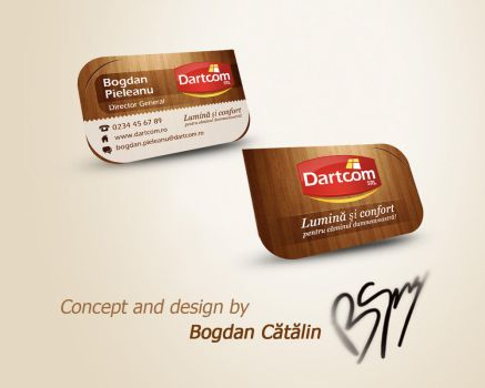 Business Card Dartcom by bogdantaz