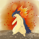 Typhlosion! (gift for friendo) by MyLittleJewMonster