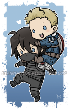 Stucky chibies by DeanGrayson