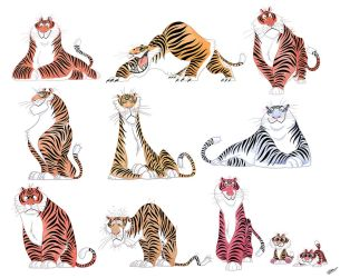 TIGERS SKETCHES by GrievousGeneral