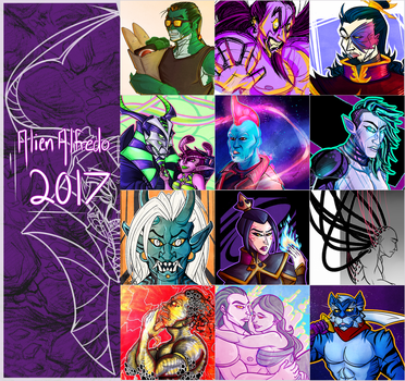 2017 Art Summary by AlienAlfredo