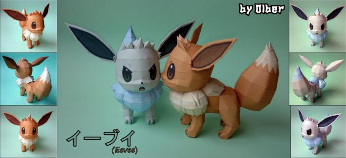 Eevee Papercraft by Olber-Correa