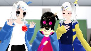 [MMD] Killersans,PaperJam, and Outersans by DesuChan12