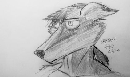 Tired and annoyed (sketch) by CrimsonFox74