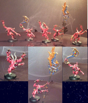 Pink Horrors of Tzeentch by Battleseal