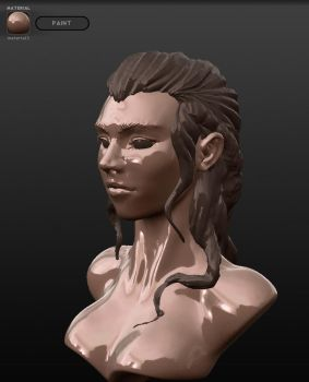 Bust created in Sculpt ris by Gleb-Vo