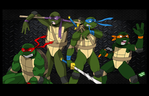 TMNT - Four Brothers by levonn78